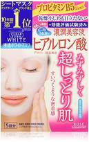 Tous CLEAR TURN Kose White Hyaluronic Acid Face Mask, 0.32 Pound