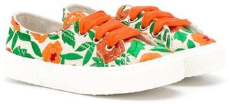Pépé Kids Floral Lace Up Sneakers