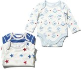 M&Co Monkey and star bodysuits three pack