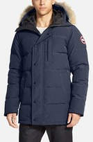 Canada Goose Men's 'Carson' Slim Fit Hooded Packable Parka With Genuine Coyote Fur Trim