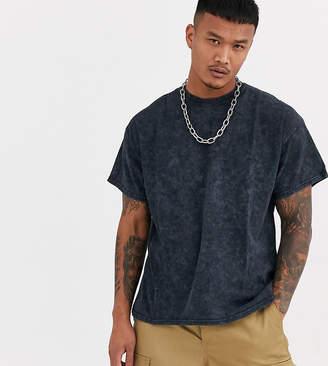 Reclaimed Vintage inspired oversized overdye t-shirt in black