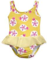 I Play Sand Dollar Ultimate Swim Diaper Skirty Tanksuit in Yellow