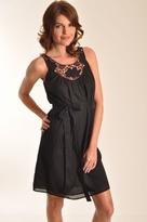 Velvet Himira Dress in Black