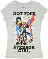 DC Super Hero Girls Not Your Average Girl Heather Gray Tee Shirt