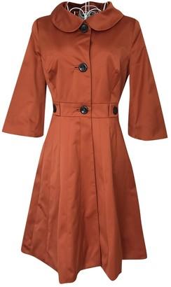 Karen Millen Orange Cotton Coat for Women