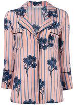 L'Autre Chose floral striped shirt - women - Silk - 40