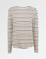 Fat Face Multi Stripe Breton Top