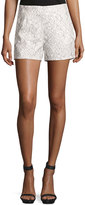 Lucy Paris Lacey Panel Shorts, Black/White