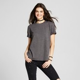 Mossimo Women's Short Sleeve Sweatshirt Heather Charcoal