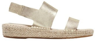 Cole Haan CloudFeel Metallic Leather Espadrille Slingback Sandals