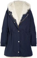 Sonia Rykiel Shearling-lined Wool-twill Parka - Blue