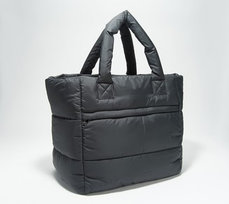 Zuda Quilted Nylon Tote with Removable Pouch