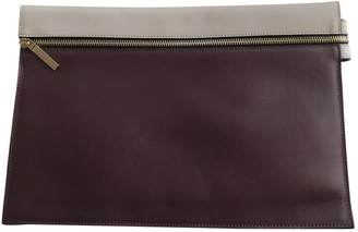 Victoria Beckham Burgundy Leather Clutch bags