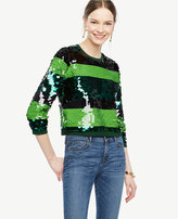 Ann Taylor Home Sweaters Striped Sequin Sweater Striped Sequin Sweater