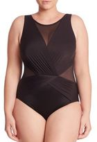 Miraclesuit Swim, Plus Size One-Piece Palma Sheer Panel Swimsuit