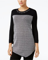 Alfred Dunner Petite Theater District Asymmetical Sweater