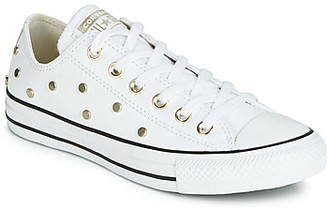 Converse CHUCK TAYLOR ALL STAR LEATHER STUDS OX women's Shoes (Trainers) in White