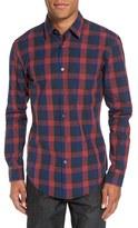 BOSS Men's 'Ronni' Slim Fit Buffalo Check Sport Shirt