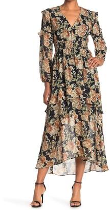 ASTR the Label Long Sleeve Ruffle Maxi Dress