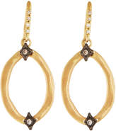 Armenta Old World 18k Diamond Hoop Drop Earrings