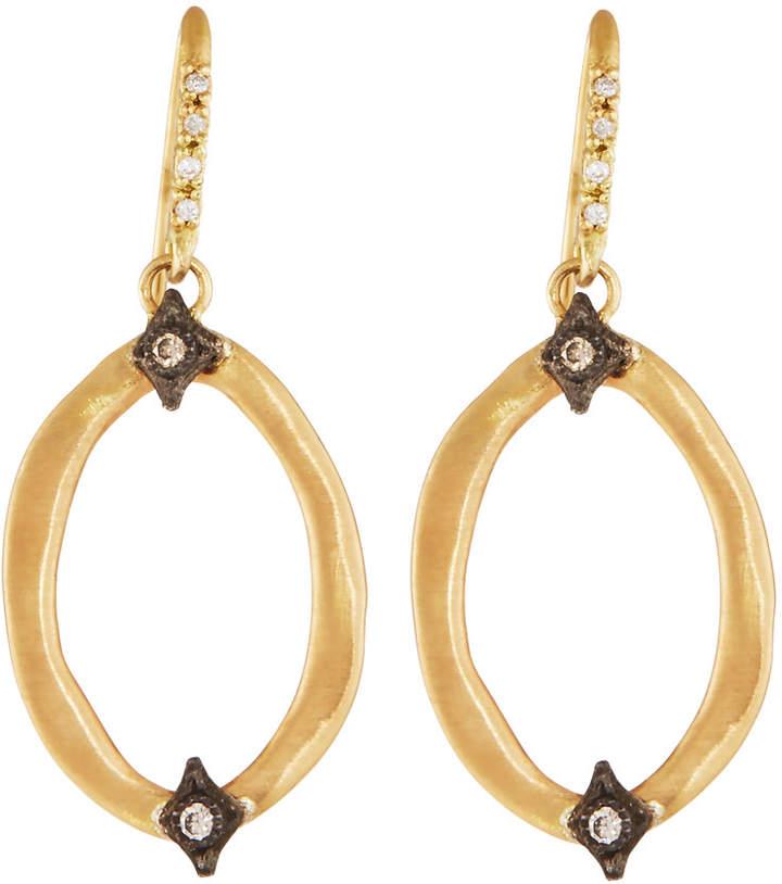 Armenta Old World 18k Diamond Hoop Drop Earrings