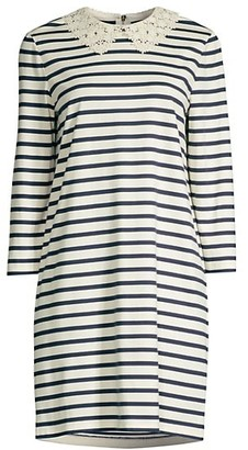 Kate Spade Lace Collar Striped Dress