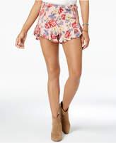 American Rag Juniors' Floral-Print Ruffled Shorts, Created for Macy's