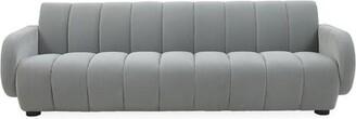 "Jonathan Adler Brigitte 88"" Wide Round Arm Sofa Fabric: Lido Celadon Velvet"
