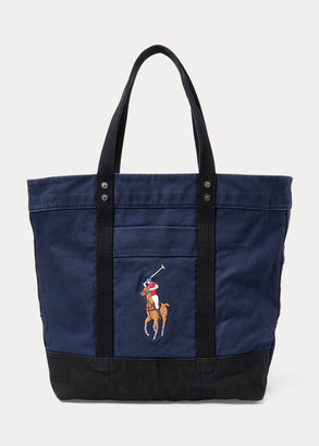 Ralph Lauren Big Pony Canvas Tote Bag