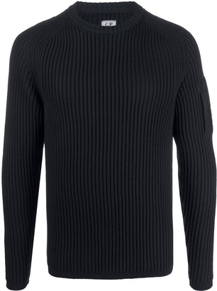 C.P. Company Ribbed Lens Detail Jumper