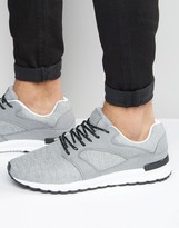 Pull&bear Runner Trainers In Grey