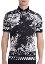 Dolce & Gabbana Slim-Fit Printed Polo