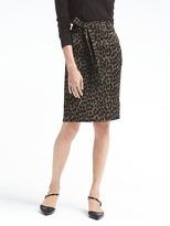 Banana Republic Animal Print Tie-Waist Skirt