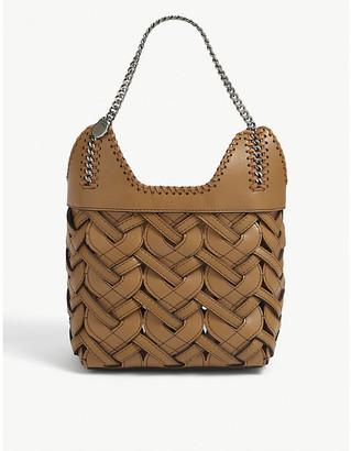Stella McCartney Woven faux-leather mini tote bag
