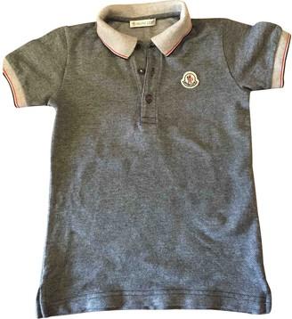 Moncler Grey Cotton Tops