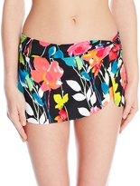 Anne Cole Women's Growing Floral Skirted Bikini Bottom