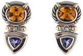 David Yurman Citrine & Iolite Clip On Earrings