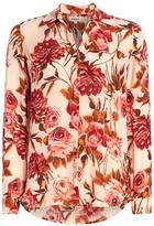 L'Agence Nina Rose Print Silk Blouse