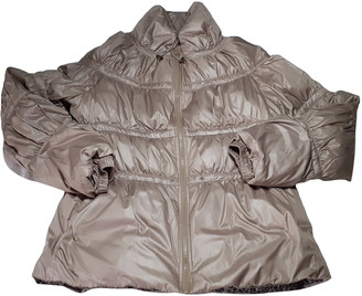 MANGO Beige Polyester Coats