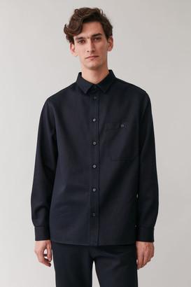 Cos Cotton-Mix Brushed Twill Shirt
