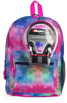 Asstd National Brand Watercolor Rainbow Backpack with Headphones