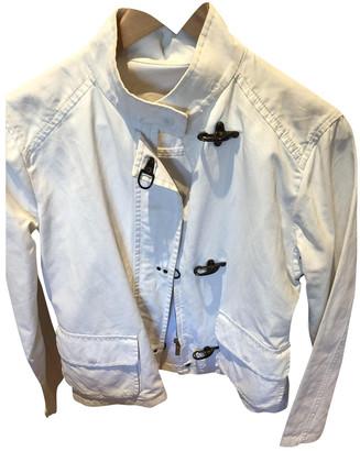 Gant White Cotton Leather jackets