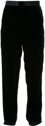Giorgio Armani Elasticated Velvet Trousers