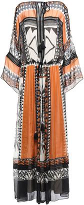 Alberta Ferretti Tassel-trimmed Printed Silk-chiffon Maxi Dress