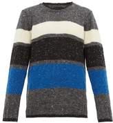 Howlin' - Praise Jah Striped Wool Sweater - Mens - Grey Multi