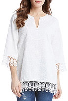 Karen Kane Embroidered Tunic