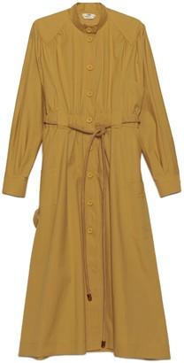 Fendi Tie Waist Long Sleeve Dress