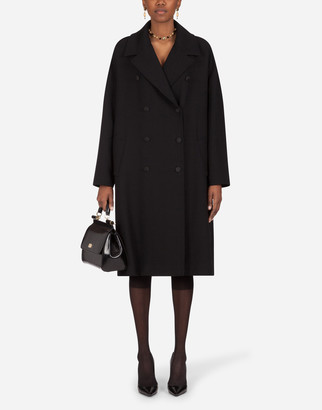 Dolce & Gabbana Oversized Double-Breasted Crepe Coat