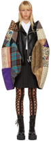 Junya Watanabe Black Faux-leather Patchwork Sleeve Jacket