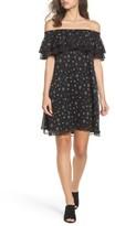 Sam Edelman Women's Ruffle Off The Shoulder Shift Dress